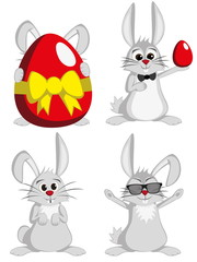 Big Bunny Collection - Funny gray male rabbit mascots