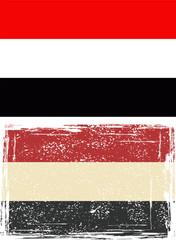 Yemen grunge flag. Vector
