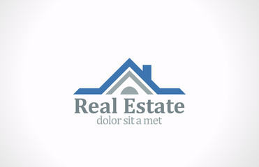 Real Estate vector logo design. House abstract icon