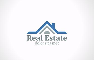 Real Estate vector logo design. House abstract icon