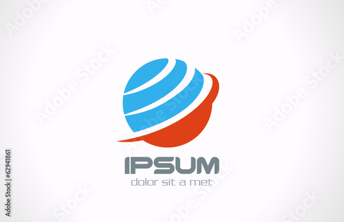 Global earth planet abstract network vector logo design