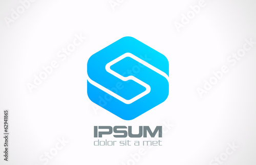 Business Technology abstract logo design. Infinity icon