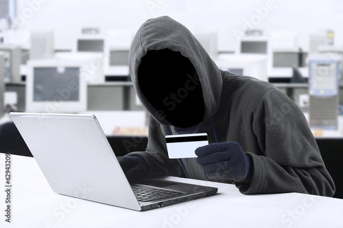 Online stealing credit card