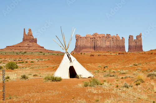 A native american tee pee in Monument valley