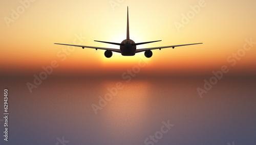 canvas print picture avion de pasajeros