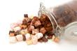 Marshmallows, fudge, chocolate, fudge and cocoa