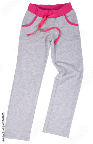 Sports Sweatpants isolated on a white