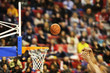 canvas print picture - Scoring the winning points at a basketball game