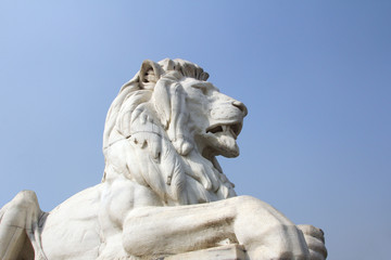 Antique Lion Statue at Victoria Memorial Gate, Kolkata