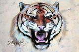 Brüllender Tiger Graffiti