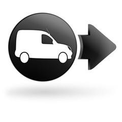 véhicule utilitaire sur bouton noir