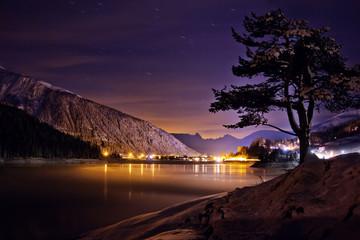 Nachtaufnahme am Davoser See – Schweiz