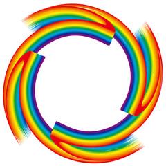 虹色のサークルフレーム