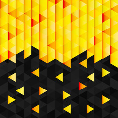 Geometric pattern from yellow orange triangle