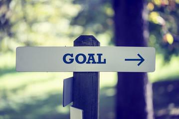 Goal signboard