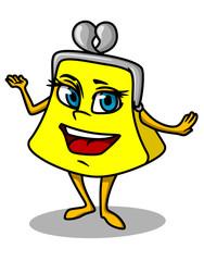 Yellow cartoon purse