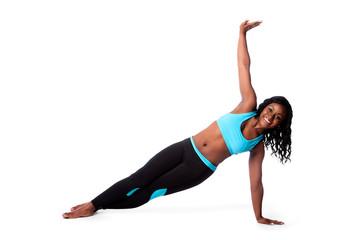 Happy pilates yoga exercise
