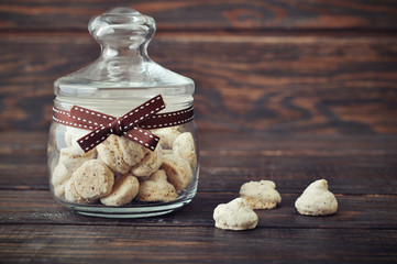 Biscotti in a glass jar