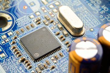 Electronic circuit chip on Main board