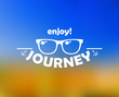 Enjoy journey header with sun glasses