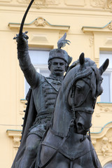 Statue of Josip Jelacic in Zagreb Croatia