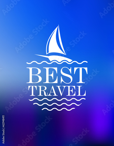 Yachting symbol with travel header