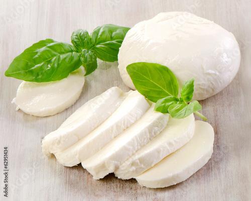 Staande foto Zuivelproducten mozzarella