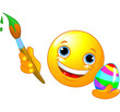 Emoticon coloring Easter Egg