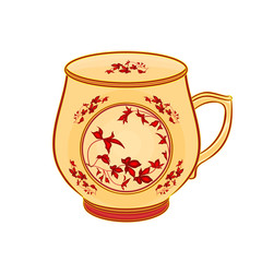 Mug of part of porcelain