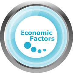 economic factors web button, icon isolated on white