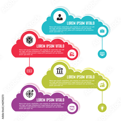 Infographic Business Concept with Clouds