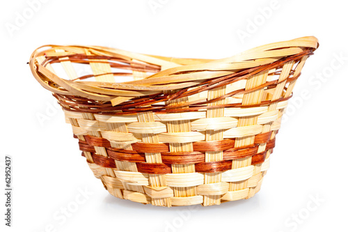 wicker basket for home use closeup