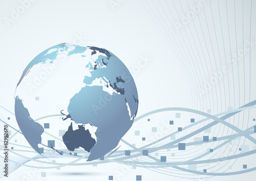 Global abstract construction background