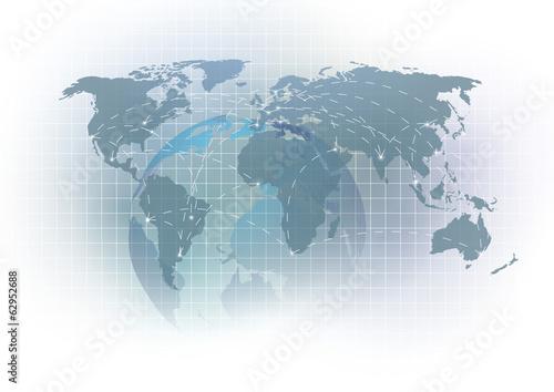 Virtual earth global concept template