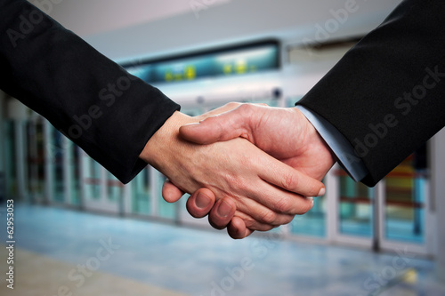 Symbol of agreement, business handshake