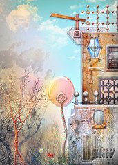 Strange house in the outskirt