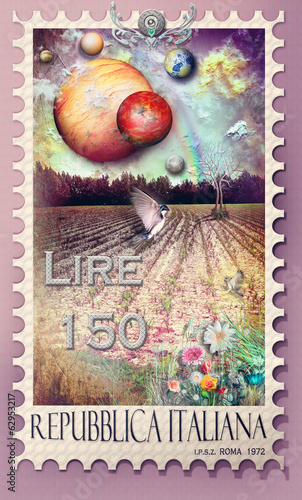 Stamp with enchanted field