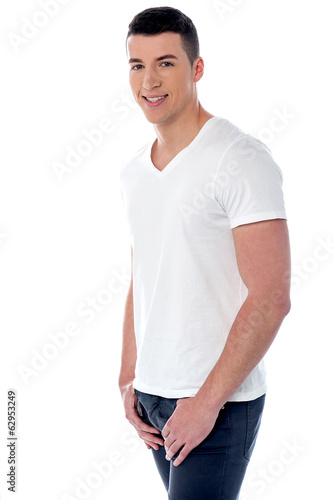 Casual young handsome man standing