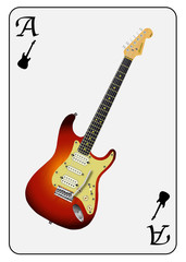 Guitar Ace Playing Card
