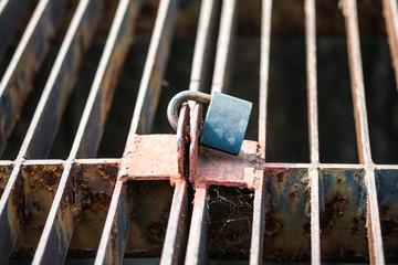 Rusty Key lock wire mesh