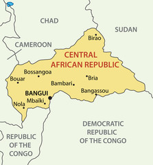 Central African Republic - vector map
