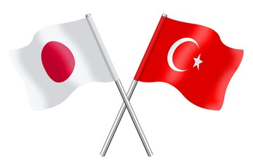 Flags: Japan and Turkey