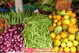 colorful vegetables display