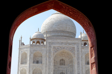 Taj Mahal, view from Mosque.