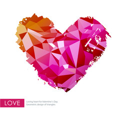Triangle love heart. Valentine`s background