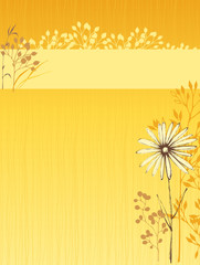 Vertical Floral Design Yellow