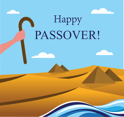 happy Passover- Out of the Jews from Egypt