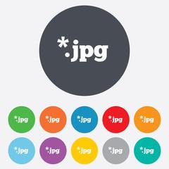 File JPG sign icon. Download image file.