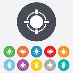 Crosshair sign icon. Target aim symbol.