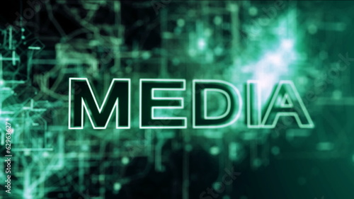 Abstract animated background of a media concept.
